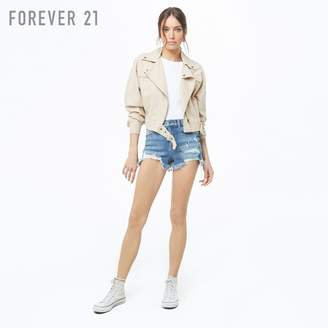 Forever 21 (フォーエバー 21) - Forever 21 リネンブレンドライダースジャケット