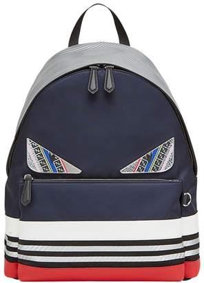 Fendi colour block appliqué backpack