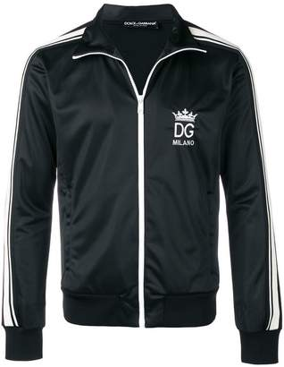 Dolce & Gabbana logo embroidered sports jacket