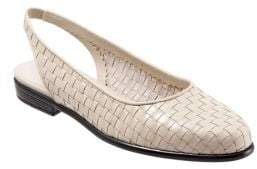 Trotters Lucy Leather Slingback Flats