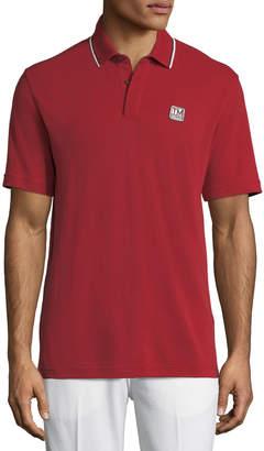 Ermenegildo Zegna Men's Logo-Applique Wool Polo Shirt