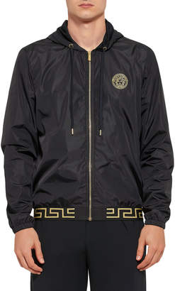 Versace Men's Greek Key Zip-Front Jacket