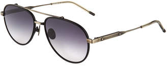 Bottega Veneta Metal Aviator Sunglasses