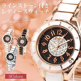 Bel Air [ベルエア DNS4 腕時計 立体フェイスにラインストーンデザイン レディース ウォッチ アナログ表示 ラウンドフェイス