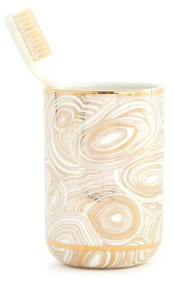 White/Gold Malachite Tumbler