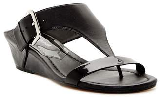 Donald J Pliner Doli Wedge T-Strap Leather Sandal