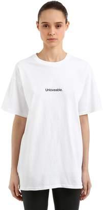 Unloveable Cotton Jersey T-Shirt