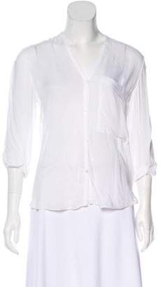 Helmut Lang Long Sleeve Button-Up Top