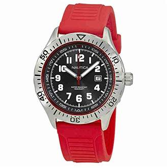 Nautica Men's 'NSR 105' Quartz Stainless Steel and Silicone Casual Watch