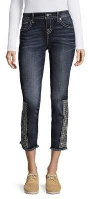 Miss Me Faded Out Aztec Skinny Jeans
