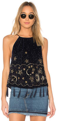 Free People Midnight Magic Embellished Tank