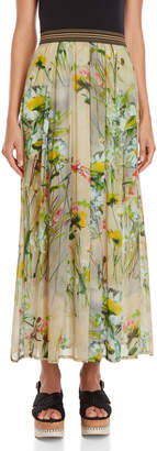 Save The Queen Long Printed Skirt