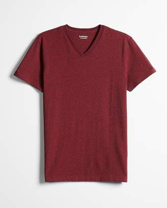 Express Heathered Slim Stretch Cotton V-Neck Tee