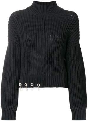 Versus logo charm sweater