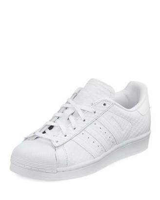 Adidas Superstar Snake-Embossed Sneaker, White $85 thestylecure.com