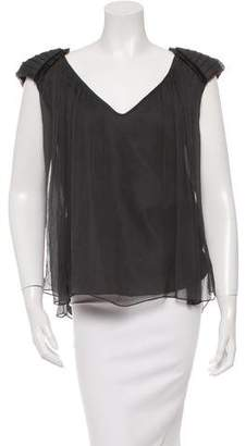 Miguelina Silk Sleeveless Top