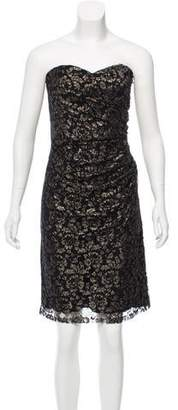 Rebecca Taylor Metallic-Accented Lace Mini Dress w/ Tags