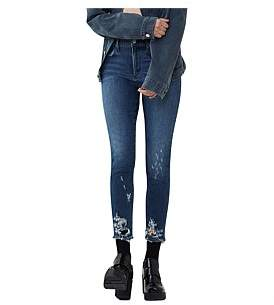 A Gold E Agolde Sophie High Rise Skinny With Distruction