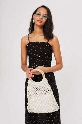 Topshop Ditsy Shirred Maxi Dress