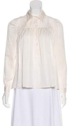 Masscob Silk Long Sleeve Blouse