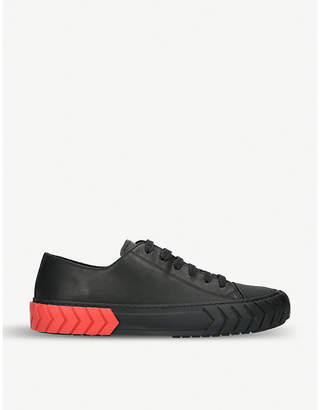 BOTH Contrast-sole leather low-top trainers