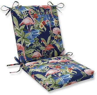 Pillow Perfect Flamingoing Lagoon Squared Corners Chair Cushion