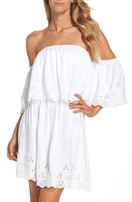 Women's Elan Off The Shoulder Cover-Up Dress $68 thestylecure.com