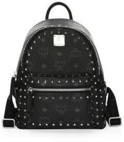 MCM Mini Stark Visetos Stud Outline Backpack