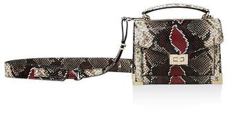The Kooples Emily Snake-Embossed Leather Mini Crossbody