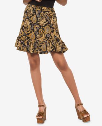 Michael Kors Printed Flounce-Hem Skirt
