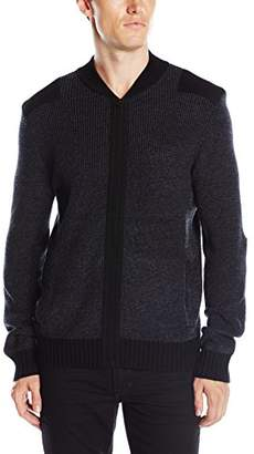 Kenneth Cole New York Men's Marled Bomber with Felt