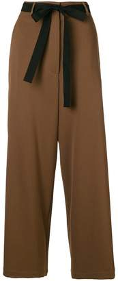 Hache belted palazzo trousers