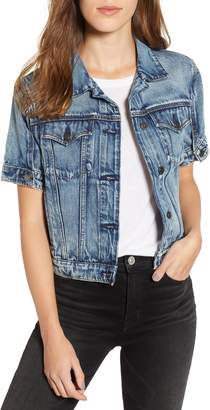Hudson Jeans Ruby Contour Short Sleeve Denim Jacket
