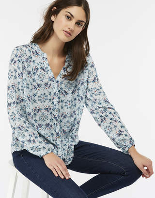 Monsoon Nevis Print Shimmer Blouse