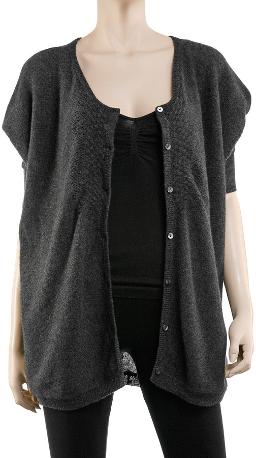 Max Studio Featherweight Cashmere Oversize Cardigan