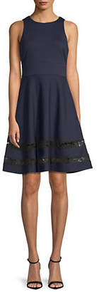Eliza J Lace-Hem Fit--Flare Dress