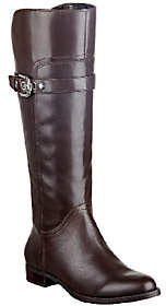 Marc Fisher Leather Wide Calf Riding Boots -Taite