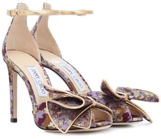 db09c3c104aa Jimmy Choo Karlotta 100 brocade sandals
