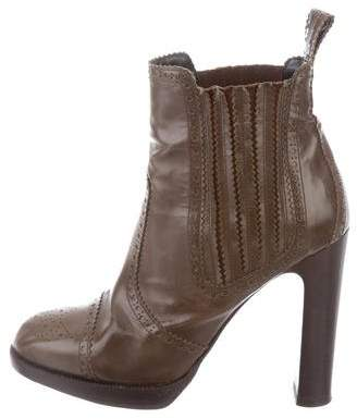 Hermes Brogue Ankle Boots