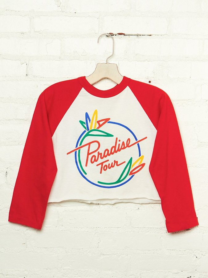 Free People Vintage Paradise Tour Cropped Tee