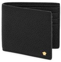 Versace Textured Leather Bi-Fold Wallet