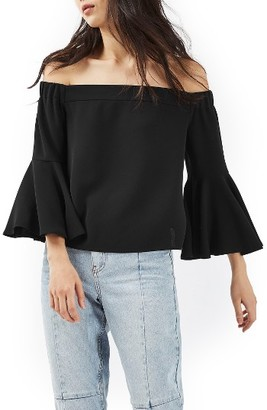 Women's Topshop Ella Off The Shoulder Top $65 thestylecure.com