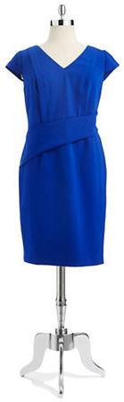 Adrianna Papell Plus V-Neck Dress