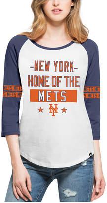 '47 Women's New York Mets Triple Crown Raglan T-Shirt