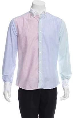 Michael Bastian Colorblock Striped Shirt w/ Tags
