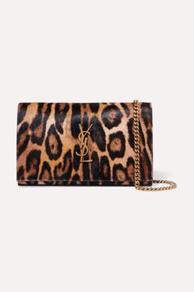 Saint Laurent Monogramme Leopard-print Calf Hair Shoulder Bag