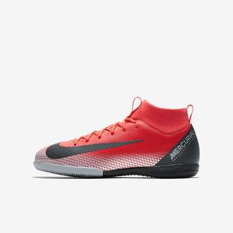 Nike CR7 Jr. SuperflyX 6 Academy IC Big Kids' Indoor/Court Soccer Cleat