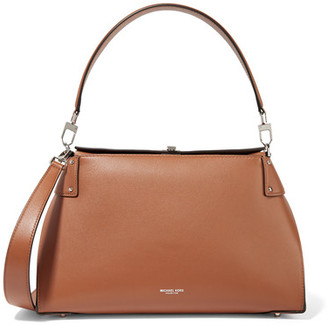 Michael Kors Collection - Miranda Leather Shoulder Bag - Tan $1,090 thestylecure.com