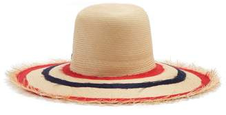 FILÙ HATS Bali Buntal striped wide-brimmed straw hat