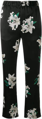 Dondup cropped floral print trousers